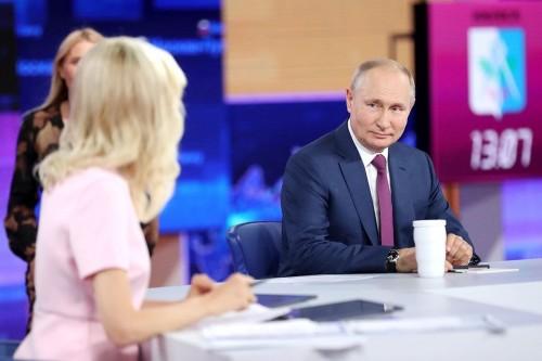 Прямое общение Владимира Путина с гражданами России длилось почти 4 часа