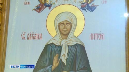 Ковчег с мощами блаженной Матроны Московской вновь вернулся в Элисту