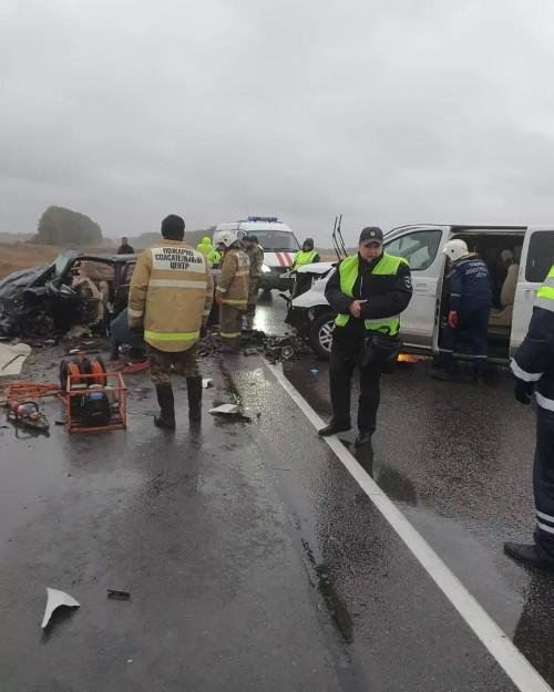 В Тамбовской области столкнулись два автомобиля из Калмыкии