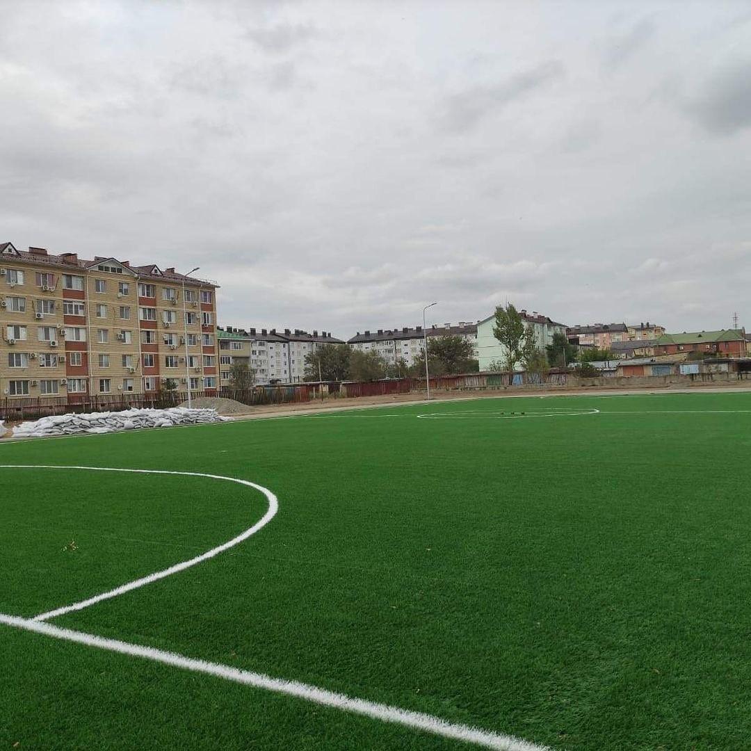 В столице продолжается реконструкция спортивного стадиона школы № 23