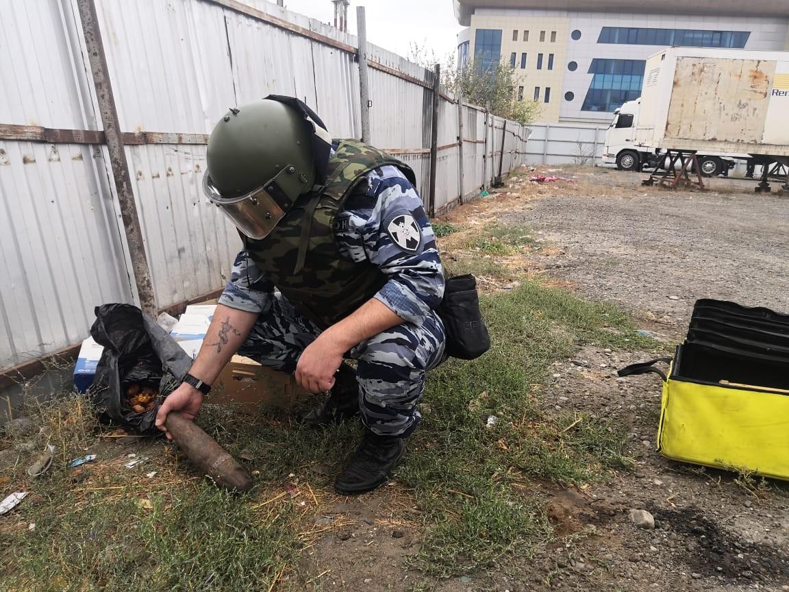 В Элисте обнаружен снаряд времен Великой Отечественной войны