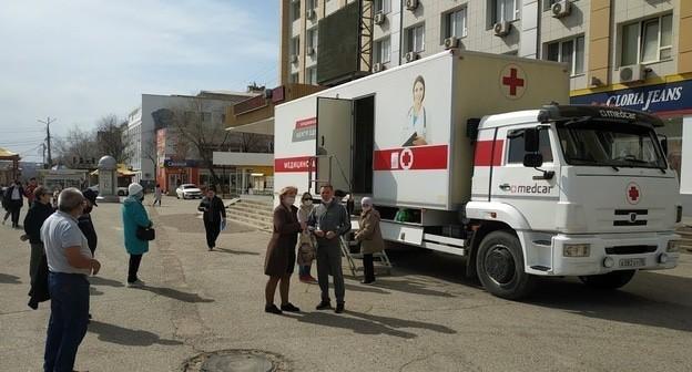 Передвижной медицинский комплекс в центре города с понедельника прекратит свою работу