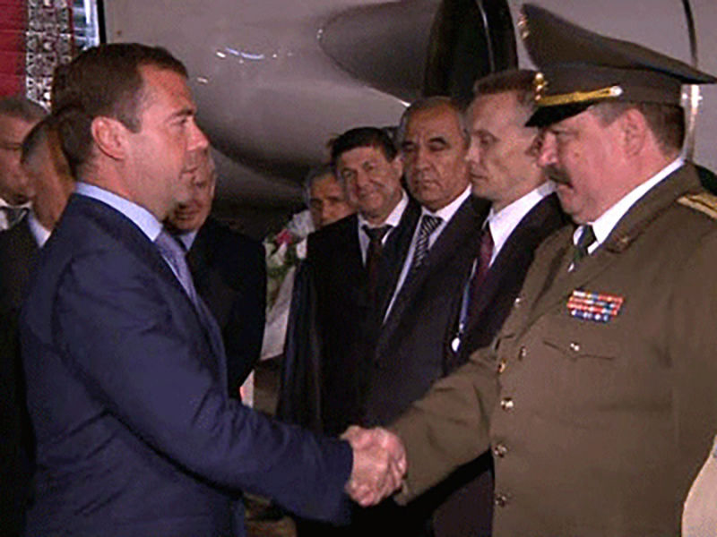 Дмитрий Медведев прибыл с официальным визитом в Таджикистан
