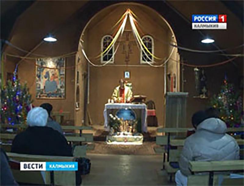 В Элисте состоялась рождественская литургия