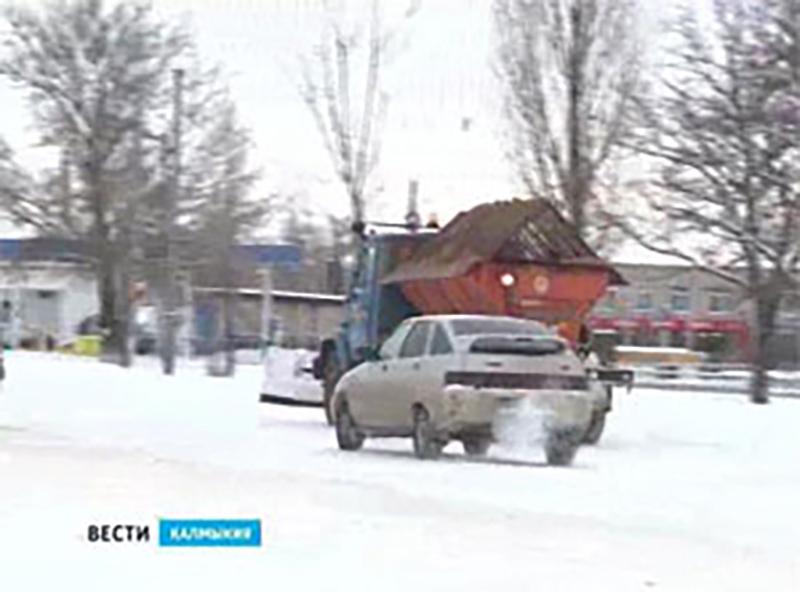В Калмыкии выпал снег