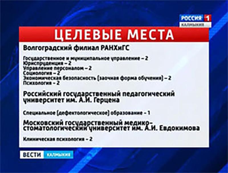 В министерство образования поступили целевые места в вузы России