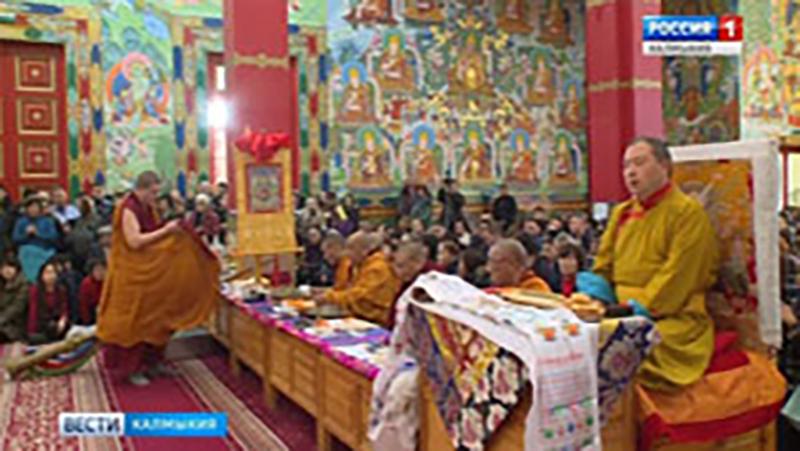 В Центральном хуруле церемония Пуджи долгой жизни Шаджин ламы Калмыкии