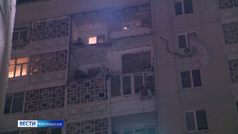 Взрыв бытового газа в многоэтажном доме Элисты