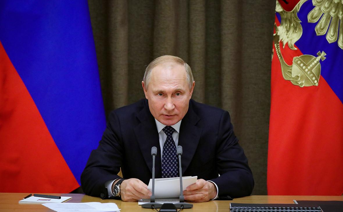 Президент России Владимир Путин выступил с обращением к жителям страны