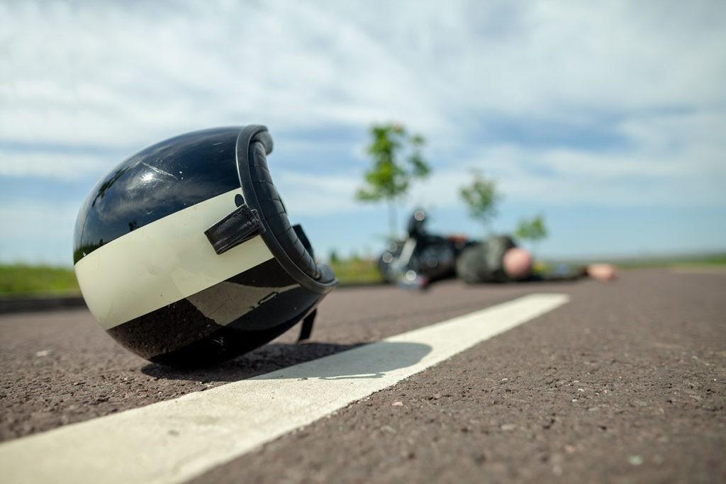 В столице вновь произошло ДТП с участием мотоцикла