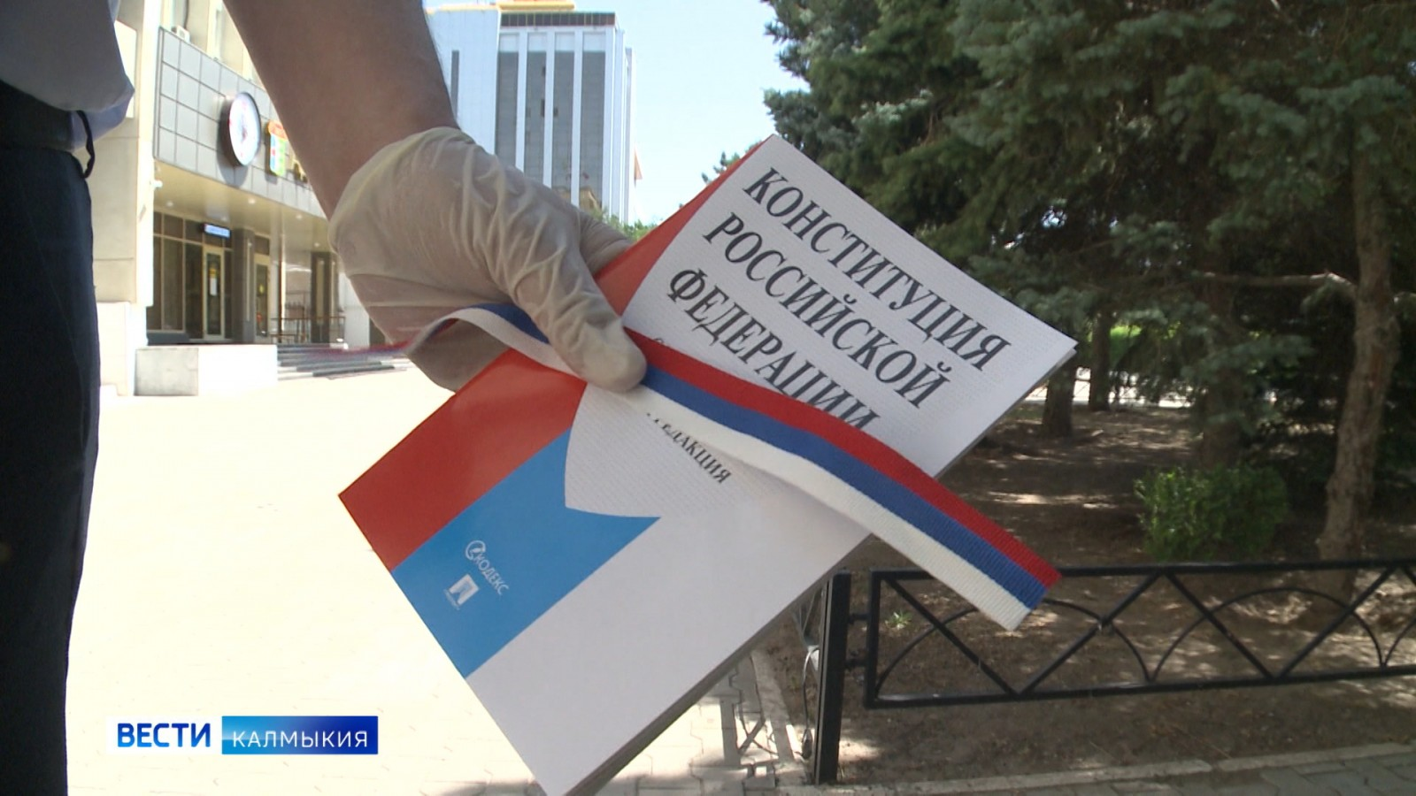 Волонтёры раздали обновлённую конституцию в центре города