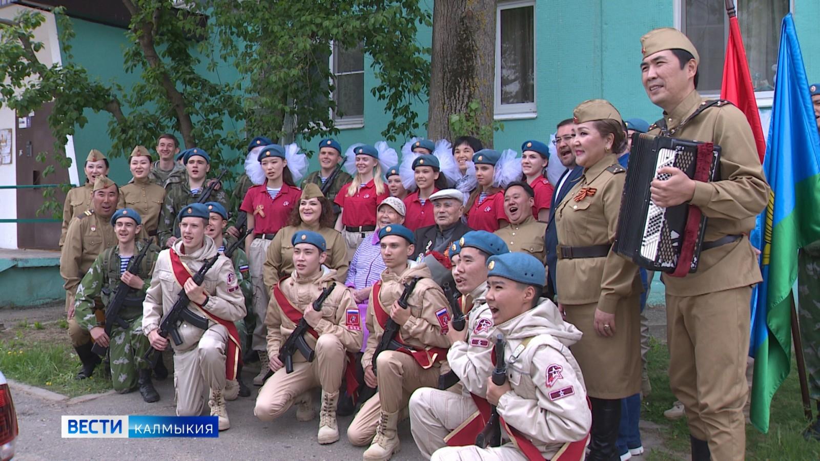 Национальный оркестр поздравил ветеранов с 9 мая!