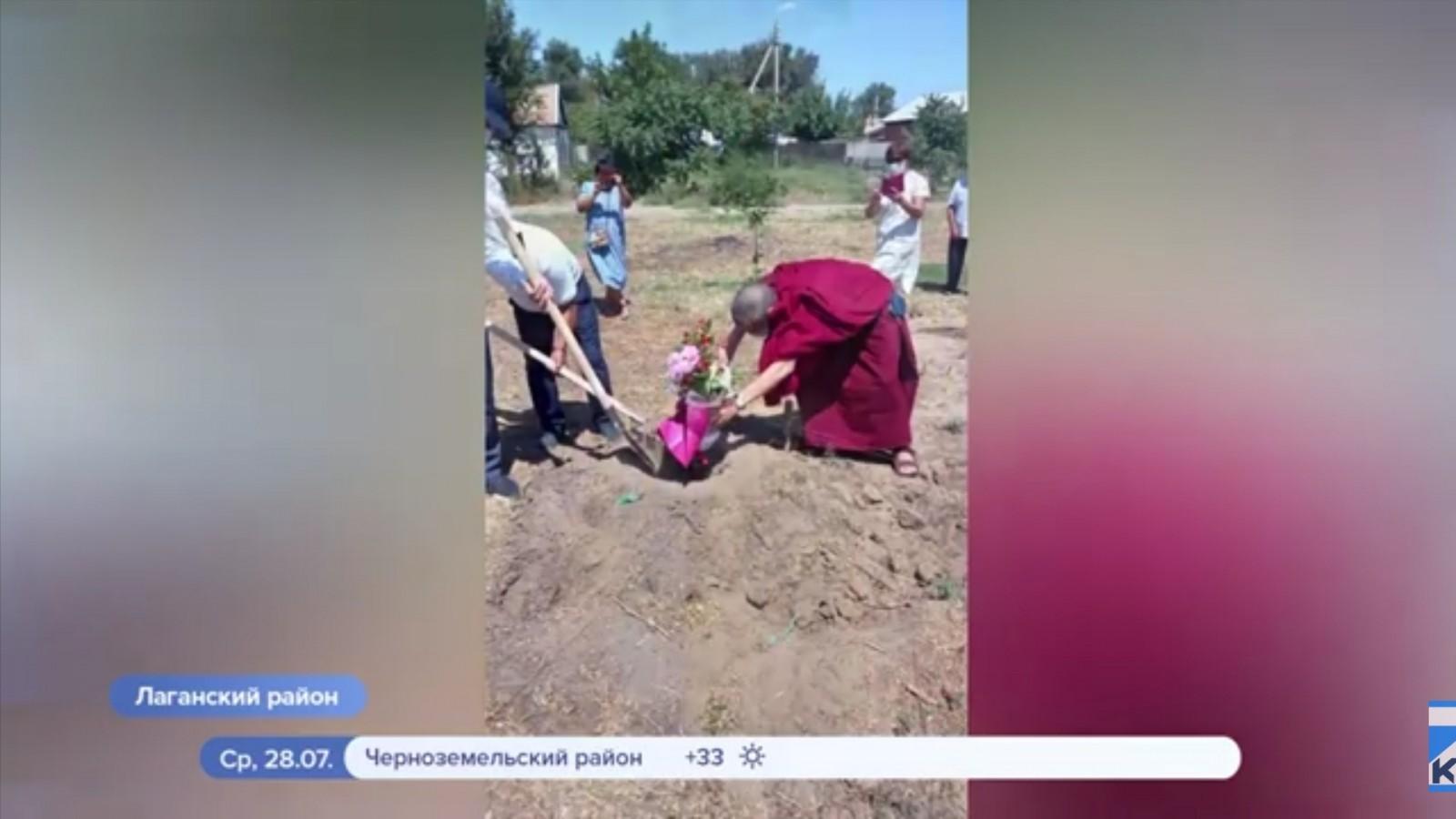 Шаджин-лама Калмыкии посетил Лаганский район где будут построены ступы