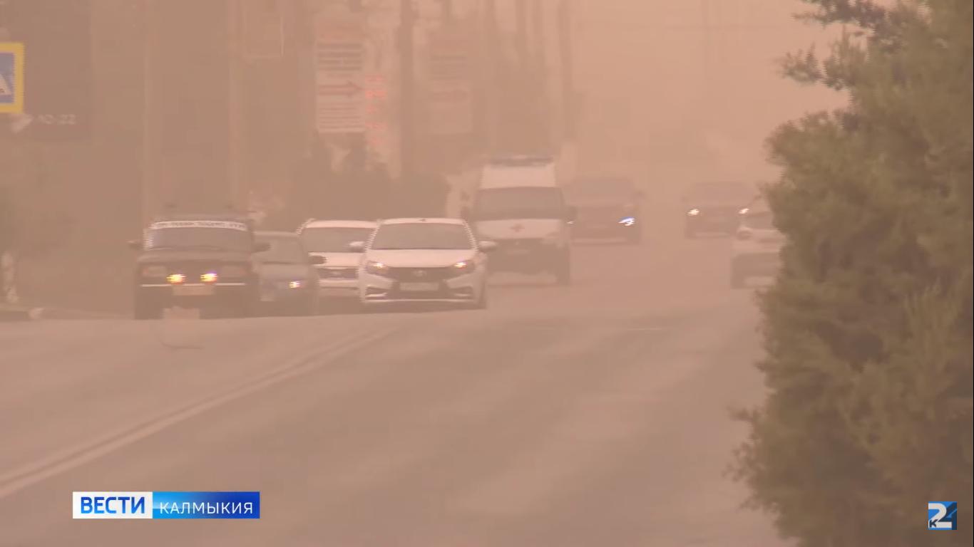 На территории Калмыкии ожидается пыльная буря