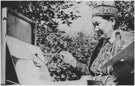 Яшалтинской детской художественной школе присвоено имя первой профессиональной художницы Калмыкии Пелагеи Емчегировой
