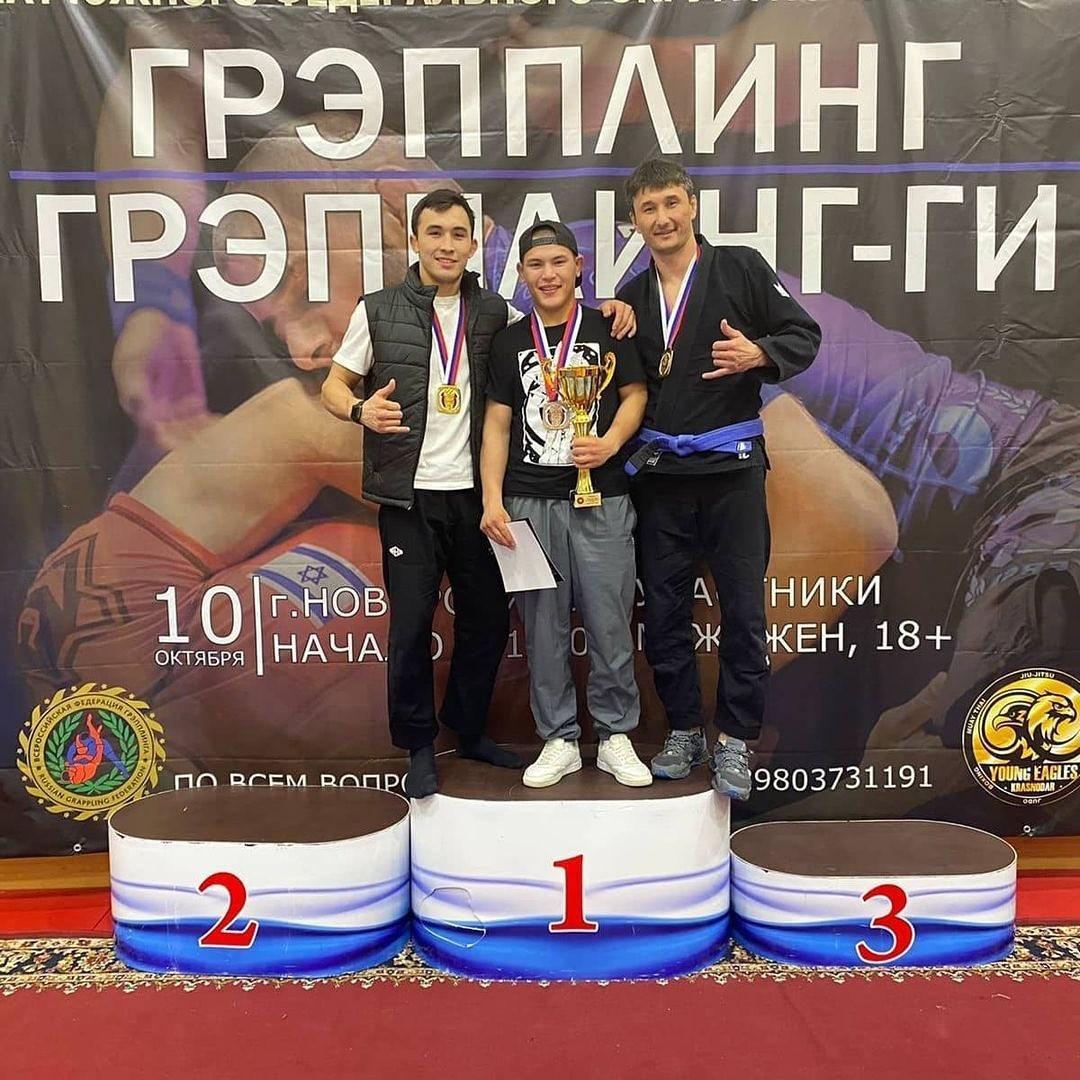 Калмыцкие спортсмены стали призёрами Чемпионата Южного федерального округа по борьбе «грэпплинг»