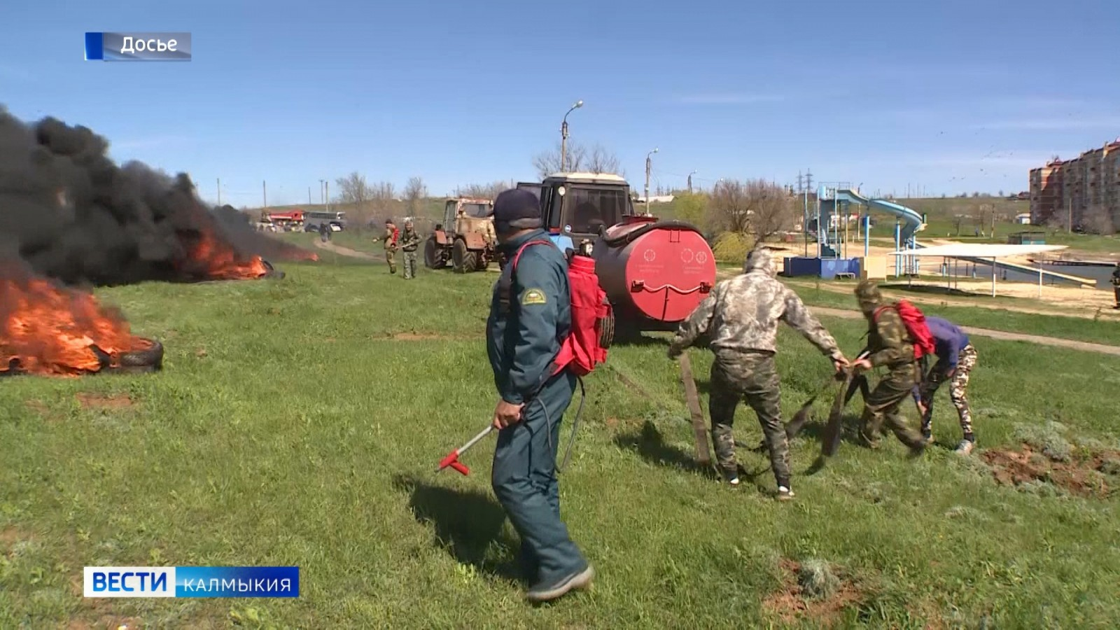 С начала года на территории Калмыкии зарегистрировано 134 пожара